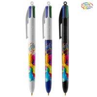 BIC® 4 Colours bille + Lanyard